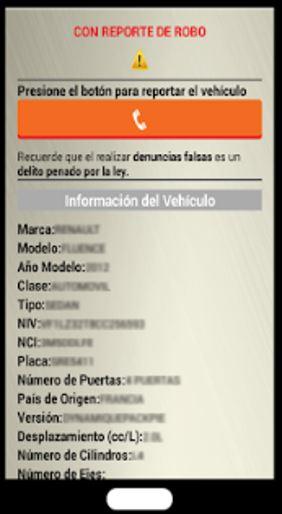 Datos que te muestra la App del Repuve
